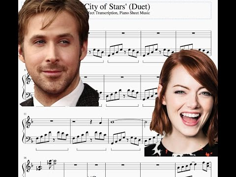 'City of Stars' (Duet) from La La Land | Piano Sheet Music | Perfect Transcription