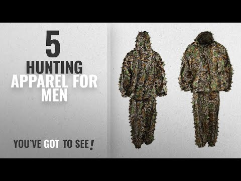 Top 10 Hunting Apparel For Men [2018]: LYGLO Mens 3D Lightweight Hooded Camouflage Ghillie