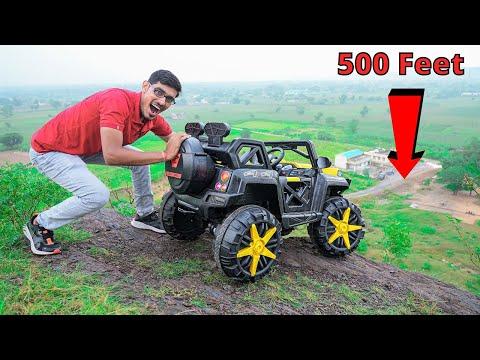 Dropping RC Monster Car From Mountain   गाडी को पहाड़ से गिराया   Will It Survive?