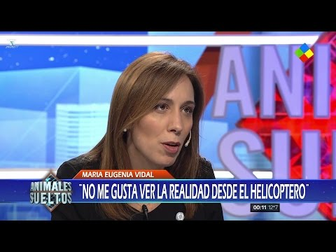 """María Eugenia Vidal en """"Animales sueltos"""" de A.Fantino - 19/05/17"""