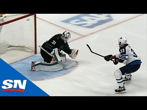 Jets' Byfuglien Strips Burns, Scores Breakaway Goal Vs. Sharks
