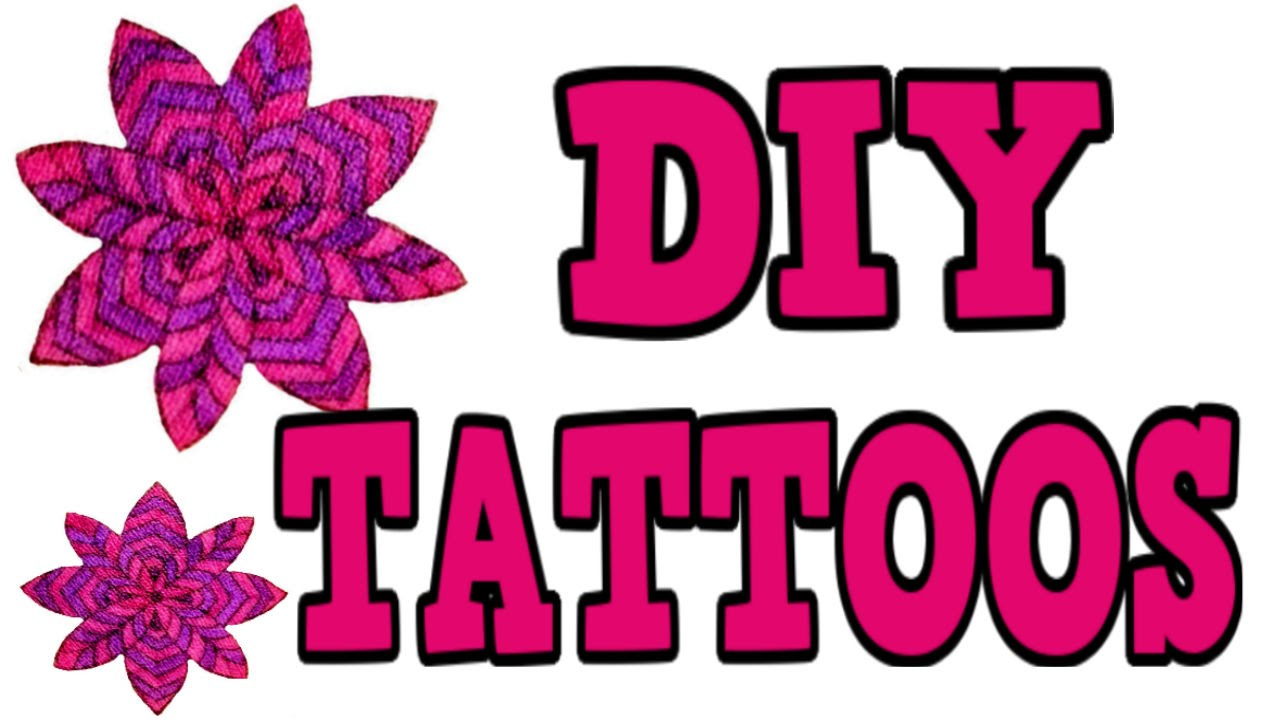 Diy Temporary Tattoos 3 Different Ways Easy Diy Tattoos Great For Kids Too