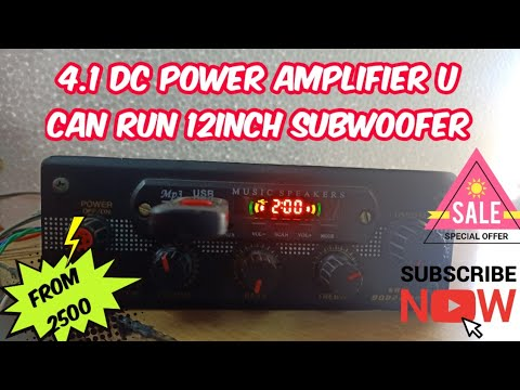 4 1 Low budget Dc 12v power amplifier u can run 12inch subwoofer (started  2500)