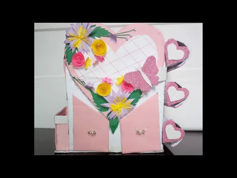 DIY- Craft, How To Make Jewellry Box/ Organzer For Jewellry/ DY Craet Ideas/ Easy Paper Craft/