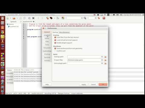 Fortran Programming Tutorials (Revised) : 009 : Geany Features + Parameter keyword
