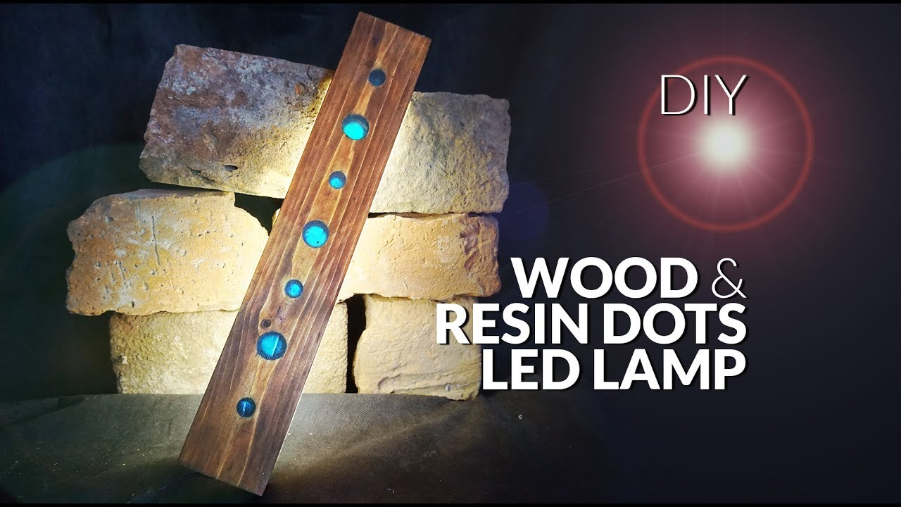 How to make RESIN & wood dots LAMP led DIY - YouTube