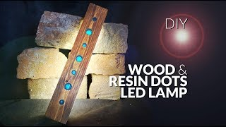 How to make RESIN & wood dots LAMP led DIY