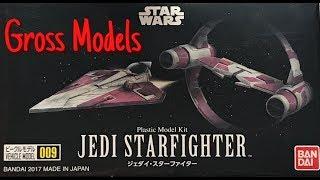 Bandai 1:144 Jedi Starfighter complete build