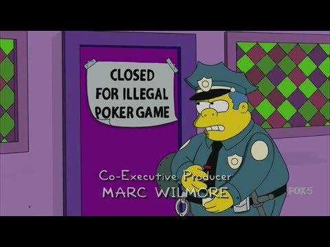 The Simpsons - Homer loses all the money on Poker