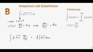 6.5 (B): Integration mit Substitution