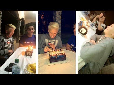 Carson lueders Celebrating his birthday | Snapchat