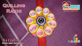 DIY: Rakhi Making from Quilling paper video tutorial - Raksha Bandhan