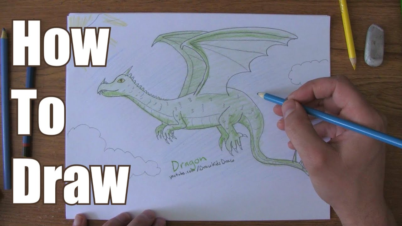 How To Draw A Dragon (easy)
