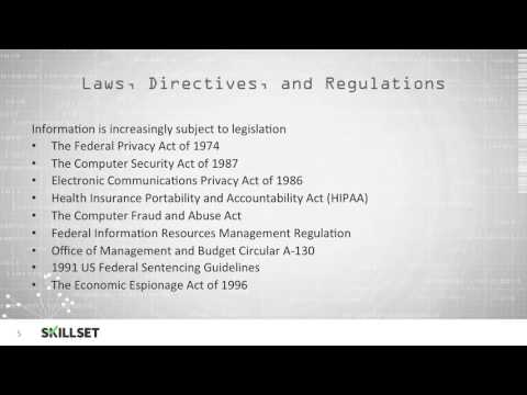 Regulatory Compliance (CISSP Free by Skillset.com)