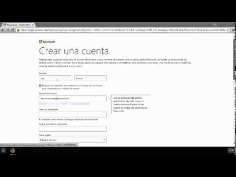 Como crear cuenta microsoft partiendo de un correo gmail
