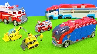 All Paw Patrol Trucks, Excavators, Helicopter & Fire Engine | Toys & Play Sets for Kids