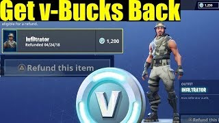 REFUNDING V-BUCKS BACK UP NOW IN FORTNITE! explication!