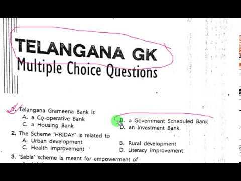 Telangana general knowledge 320 MCQs in English( 1-50 Q)