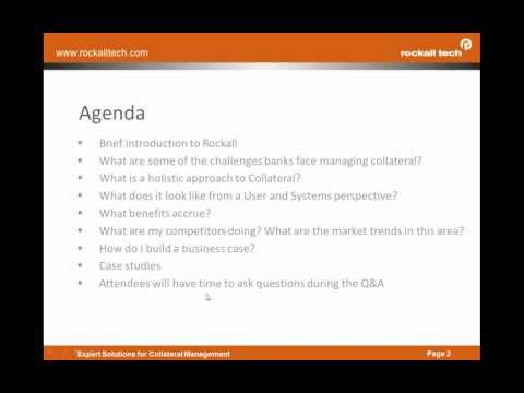 Rockall Technologies Webinar - How to Use Collateral Trackin