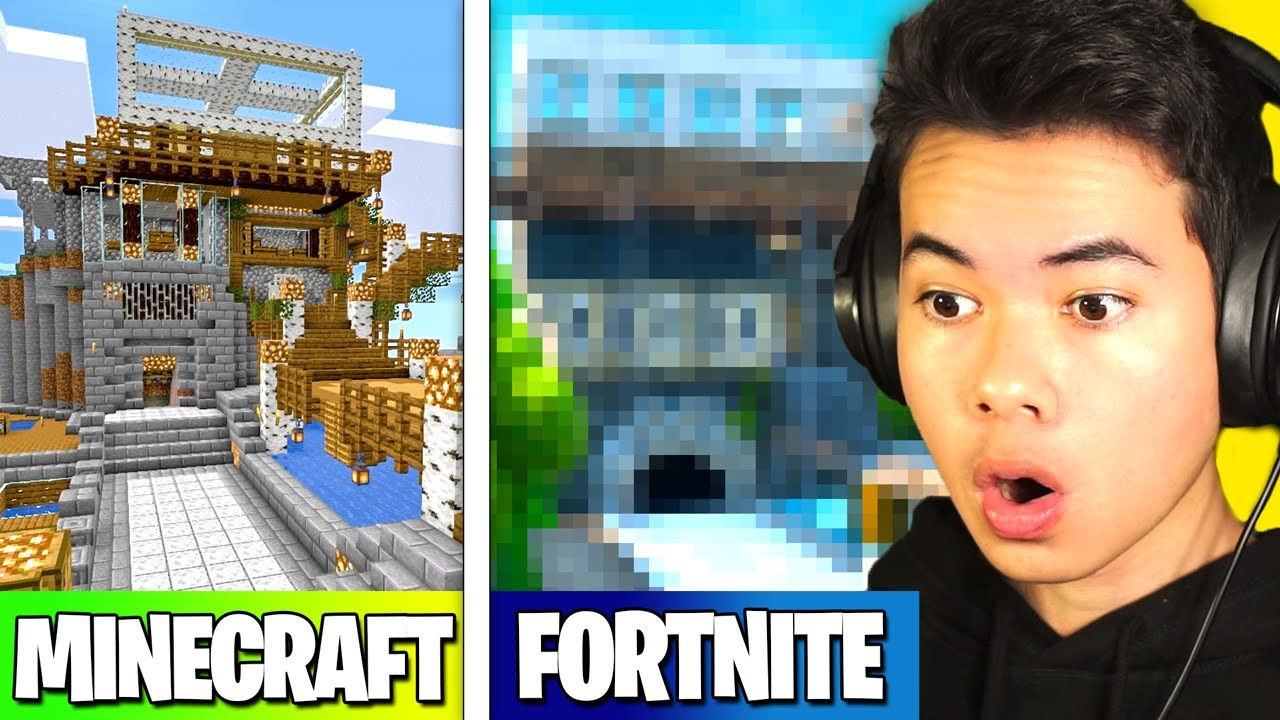 Building my MINECRAFT HOUSE In Fortnite...