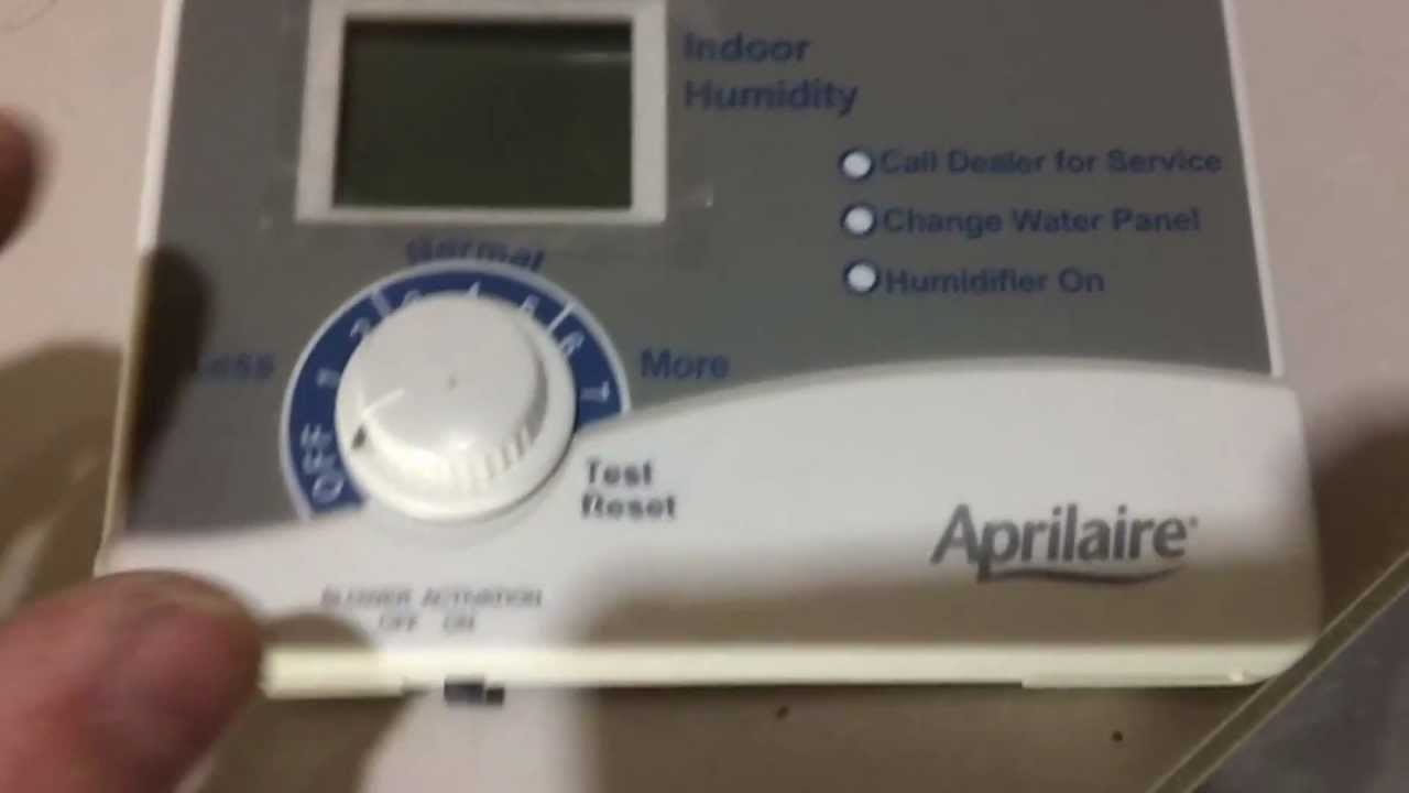 Aprilaire 760 Wiring Diagram 700 Humidifier Installation Part 1 Youtube