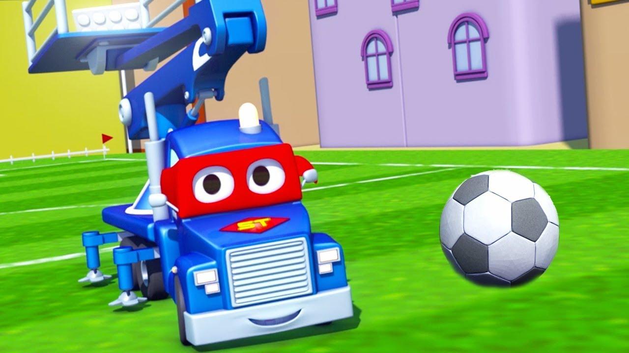 كرة القدم !! الشاحنة الخارقة | رسوم متحركة للسيارات والشاحنات في مجال الإنشاءات ( للأطفال)