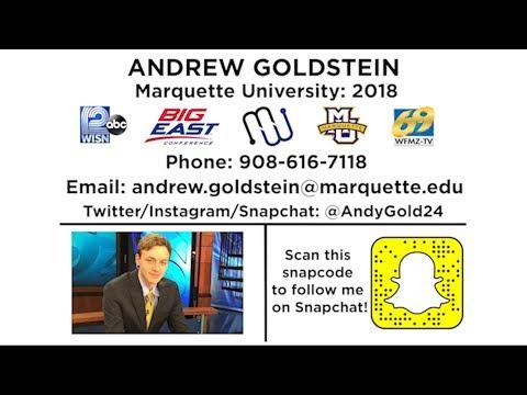 Andrew Goldstein: 2018 Jim Nantz Awards Application