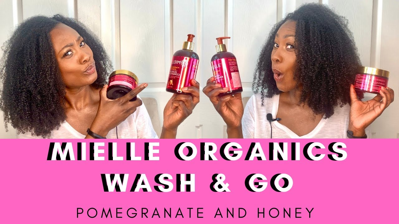WASH & GO - MIELLE ORGANICS POMEGRANATE AND HONEY  - CURLING CUSTARD - TYPE 4 HAIR
