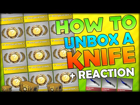 HOW TO GET A KNIFE! CS:GO CRAZY REACTION - KNIFE UNBOXING ��� CS:GO CASE OPENING #4