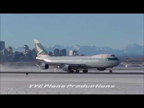 Cathay Pacific Cargo 747-867F (B-LJL) Takeoff at YYCᴴᴰ