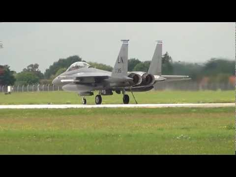 Arresting system/Runway Barrier Test @ RAF Mildenhall With Lakenheath F-15E 10-07-2012