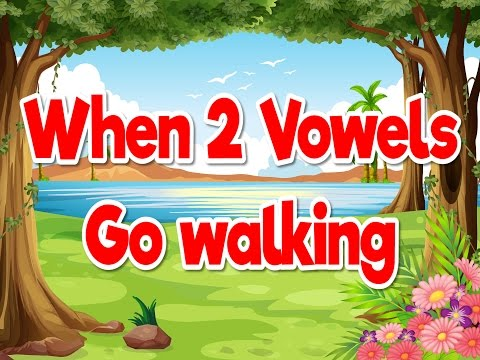 When 2 Vowels Go Walking | Phonics Song For Kids | Jack Hartmann