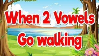 When 2 Vowels Go Walking Phonics Song for Kids Jack Hartmann