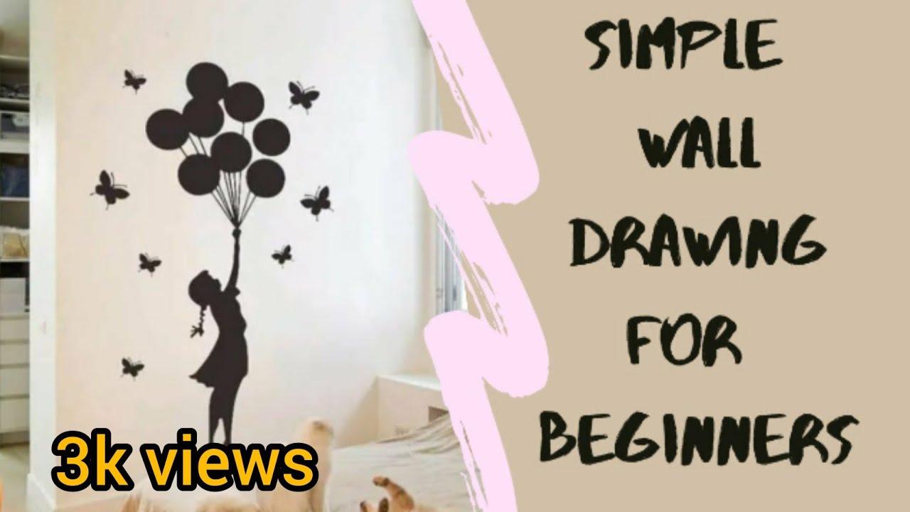Simple Wall Drawings For Beginners Varda Binth Majeed Youtube
