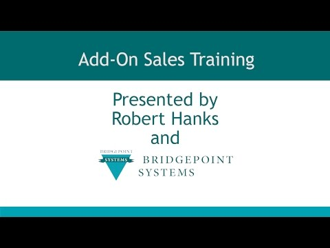Add On Sales -  Section 1 - Introduction