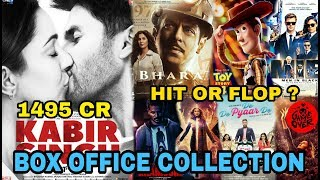Box Office Collection Of Kabir Singh, Toy Story 4, Bharat, Game Over, MIB Movie Etc 2019