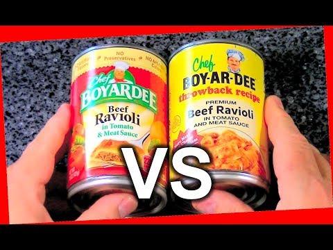 Chef Boyardee Throwback Recipe Pasta Ravioli Comparison and Review Taste Test