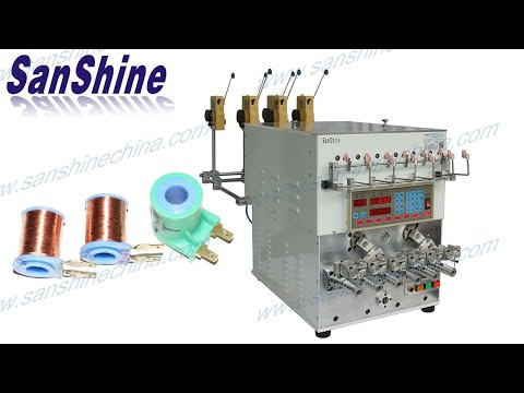 SS966T Six Spindles Coil Winding Machine With Wire Twister