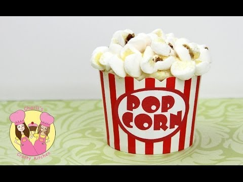 POPCORN CUPCAKES!  Easy how to tutorial by Charli's crafty kitchen - circus or movie party