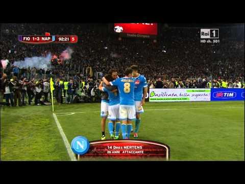 Mertens conclude il 3-1 del Napoli - Coppa Italia 2014 - (Napoli-Fiorentina 3-1)