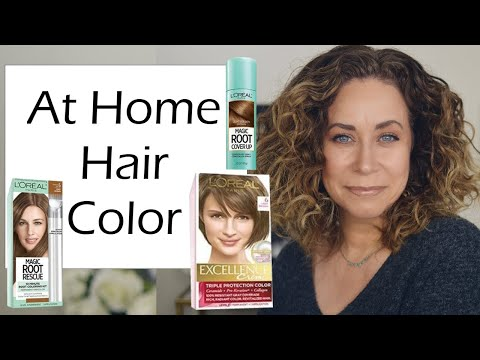 how-i-get-rid-of-my-gray-hair-at-home-|-loreal-coloring