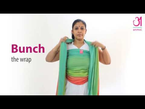 How to Use the Anmol Handwoven Wrap - Front Wrap Cross Carry Mp3