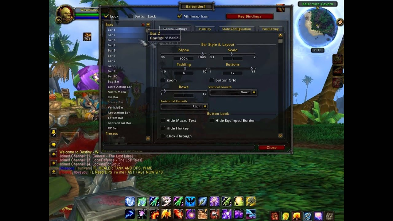 WoW How to use Addons (Bartender4) - YouTube  WoW How to use ...