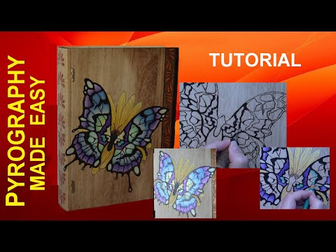 Pyrography For Beginners BUTTERFLY BOOK Wood Burning Tutorial