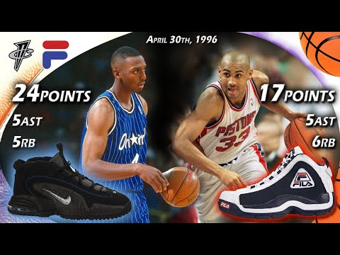 Penny Hardaway VS Grant Hill Face-off G3 1996 Playoffs