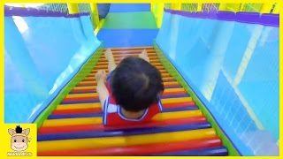 Indoor Playground Learn Colors Kids Family Fun Slide Rainbow Colors Ball for Play | MariAndKids Toys