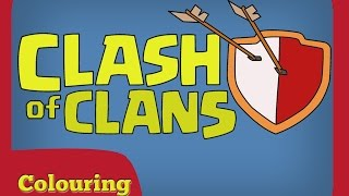 Colouring Clash of Clans Logo - Learn Colouring - Video Learning For Kids