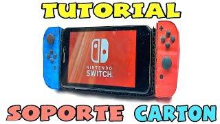 Cómo hacer un soporte  para móvil / celular de cartón - Tutorial Nintendo Switch