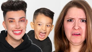 JAMES CHARLES ADPOTED A CHILD FOR A DAY REACTION w WES &amp STEPH!!