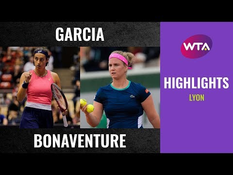 Caroline Garcia vs. Ysaline Bonaventure | 2020 Lyon Second Round | WTA Highlights